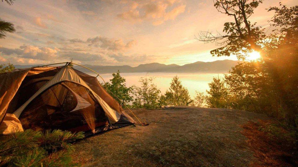 Кемпинг_закат палатка