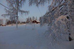 финский коттедж зимой